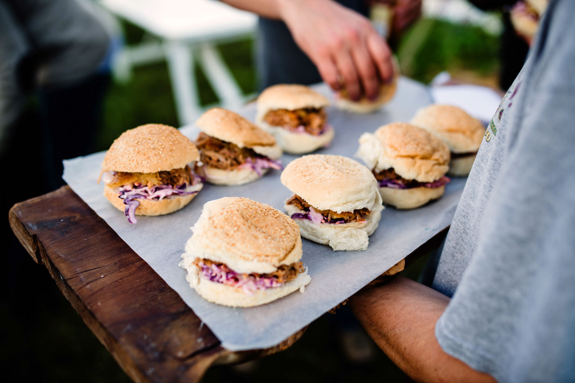 Burgers at Pennard Orchard