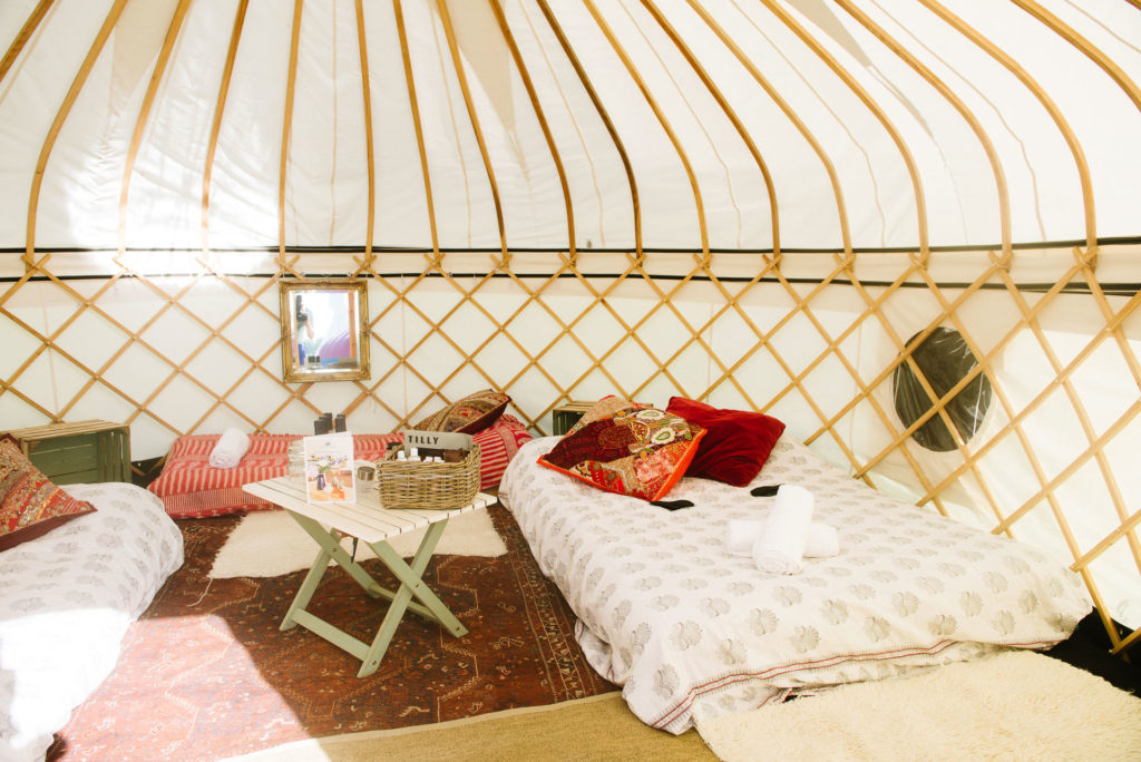 Large yurts for up to five at Pennard Orchard Boutique Camping