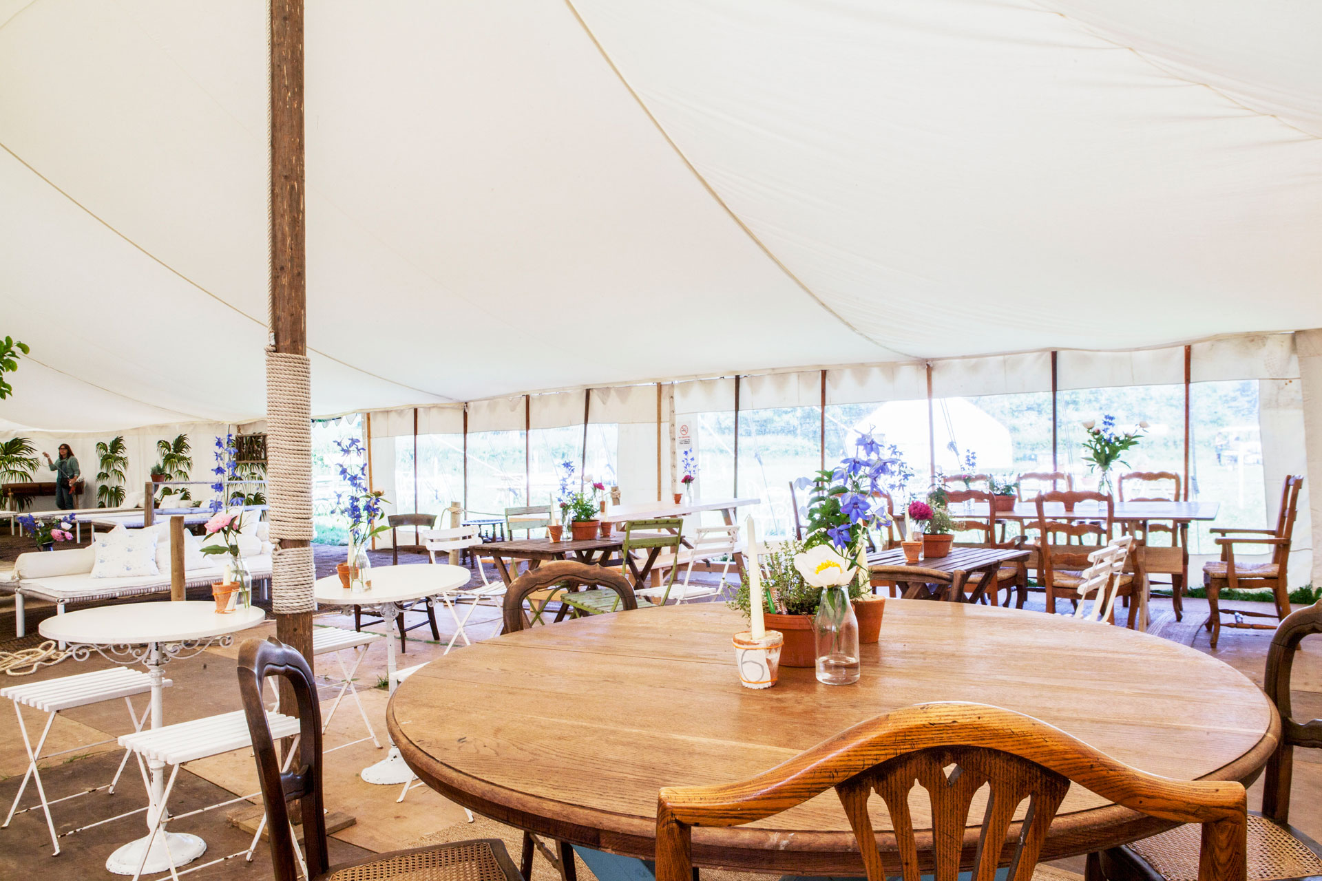 Tables in the Orchard Restaurant