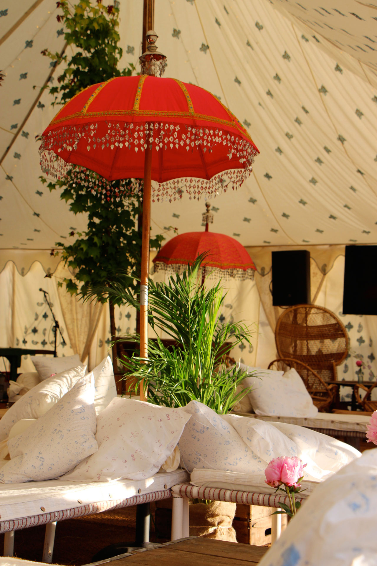 Parasols in the Orchard Bar
