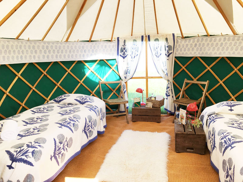 Twin luxury yurt